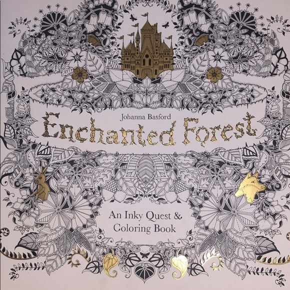 Other Enchanted Forest Coloring Book Poshmark
